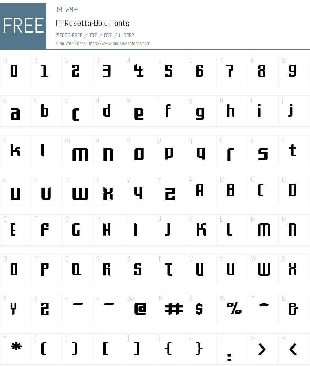 FFRosetta-Bold Font Screenshots