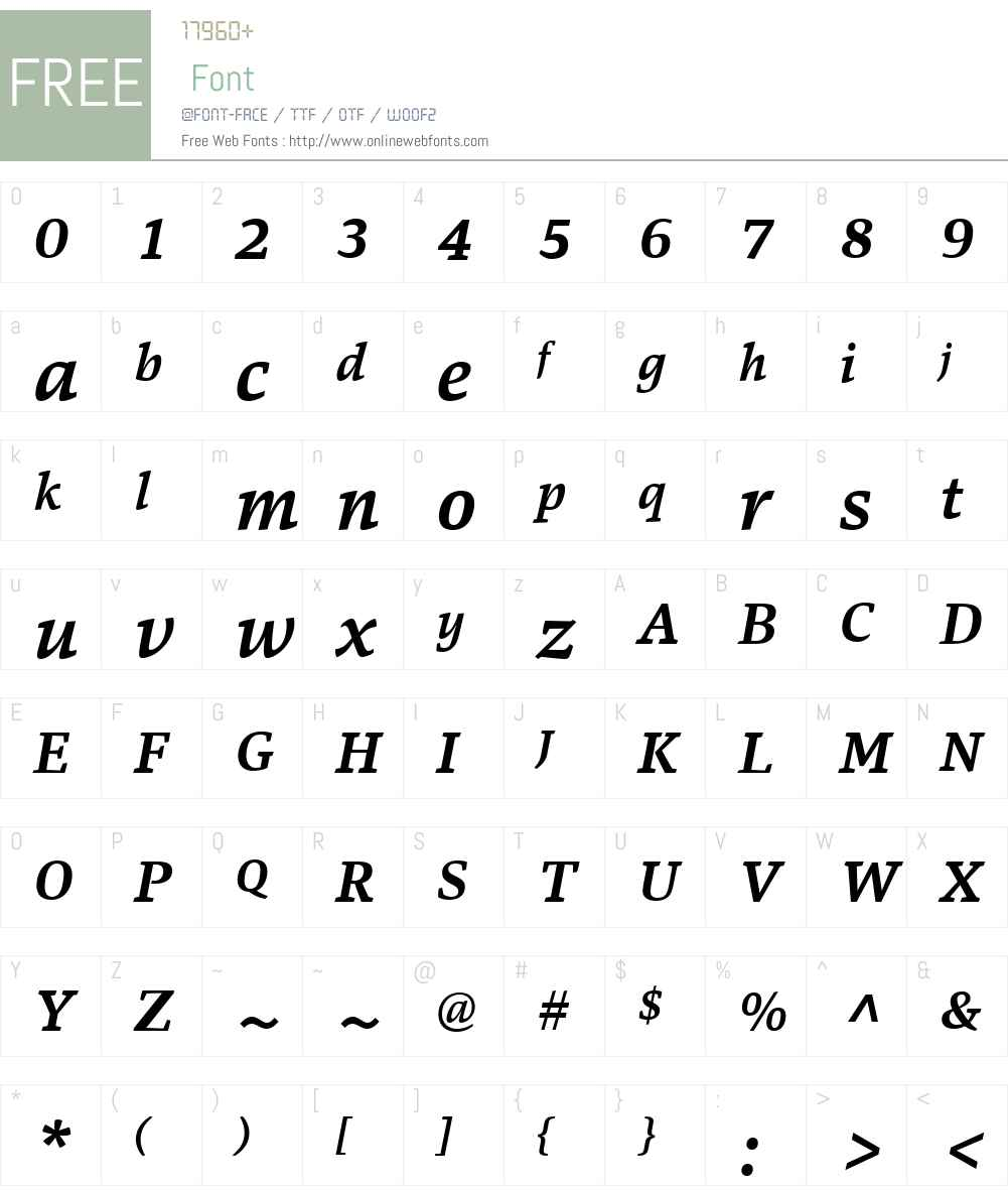 Danton Font Screenshots
