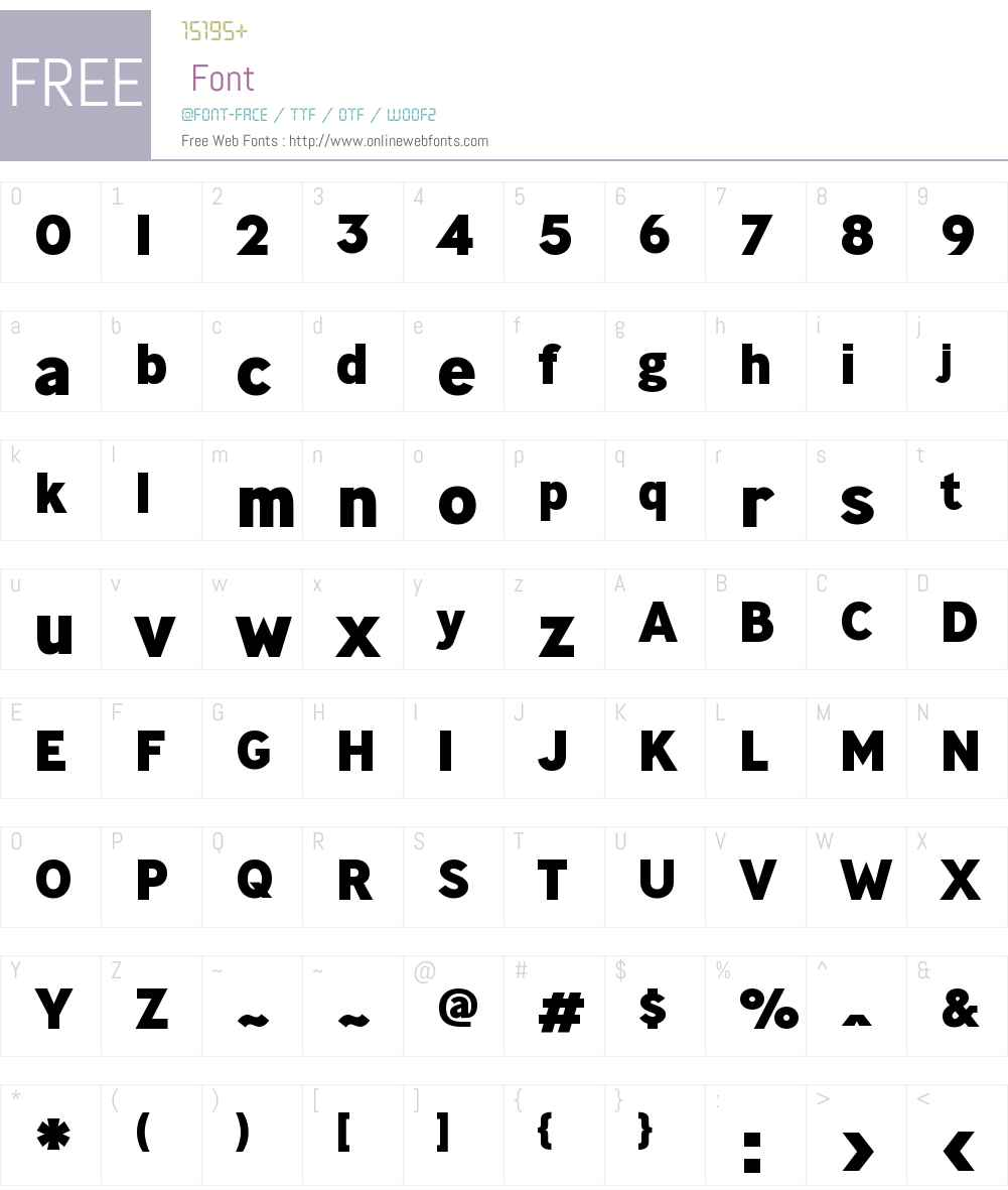 MinistryW00-ExtraBold Font Screenshots