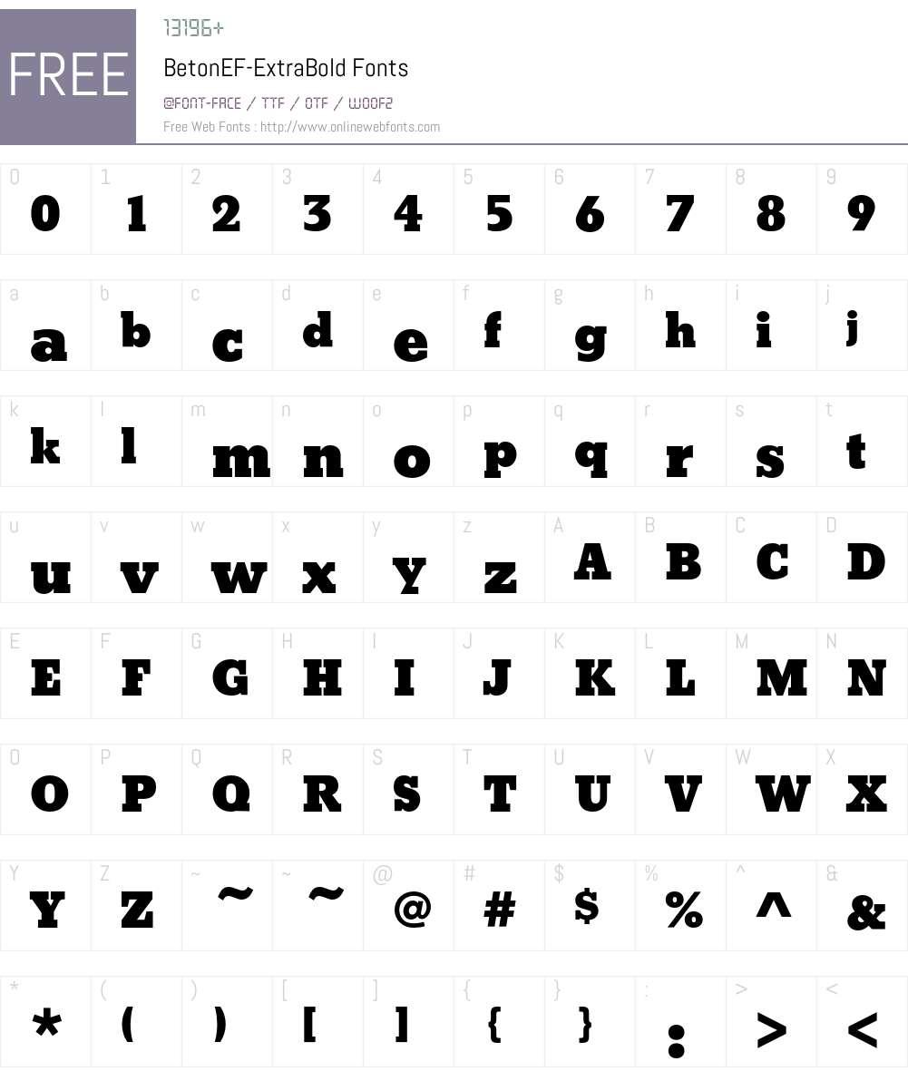 BetonEF Font Screenshots