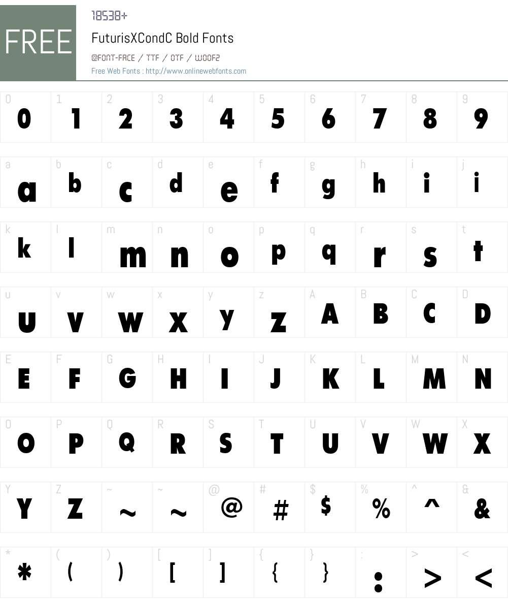 FuturisXCondC Font Screenshots
