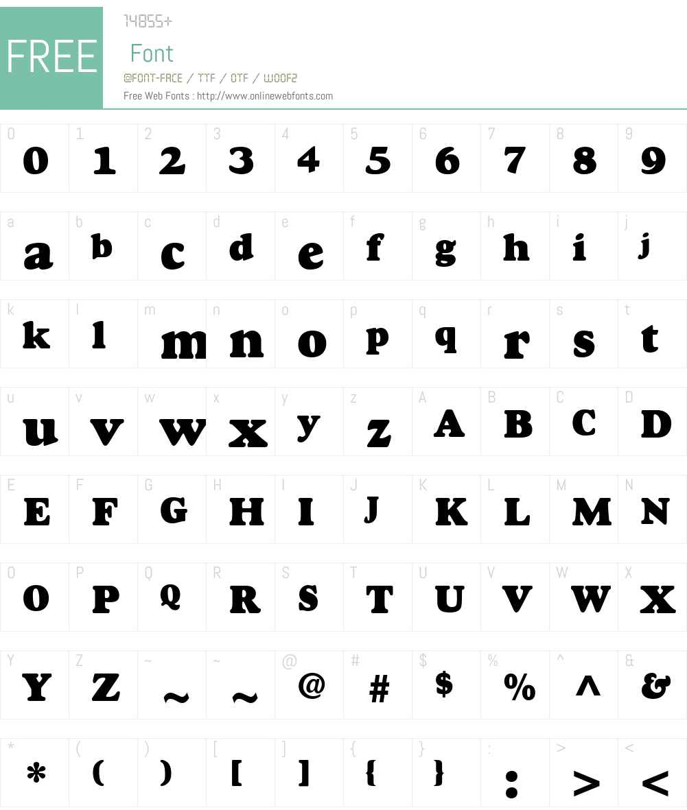 Goudy Font Screenshots