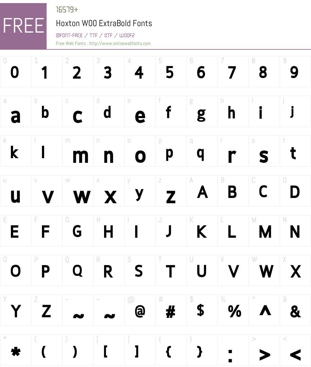 HoxtonW00-ExtraBold Font Screenshots