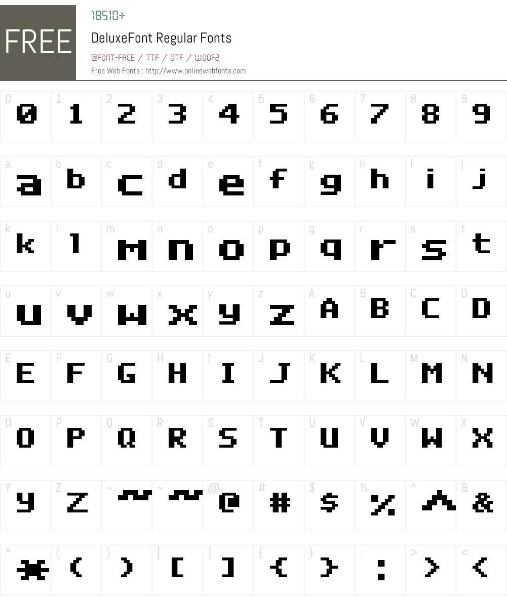 DeluxeFont Font Screenshots