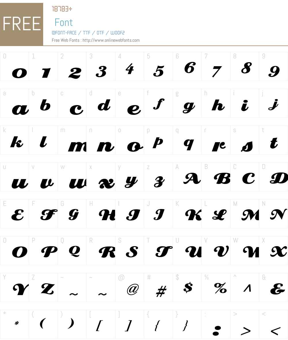 EclatICG Font Screenshots