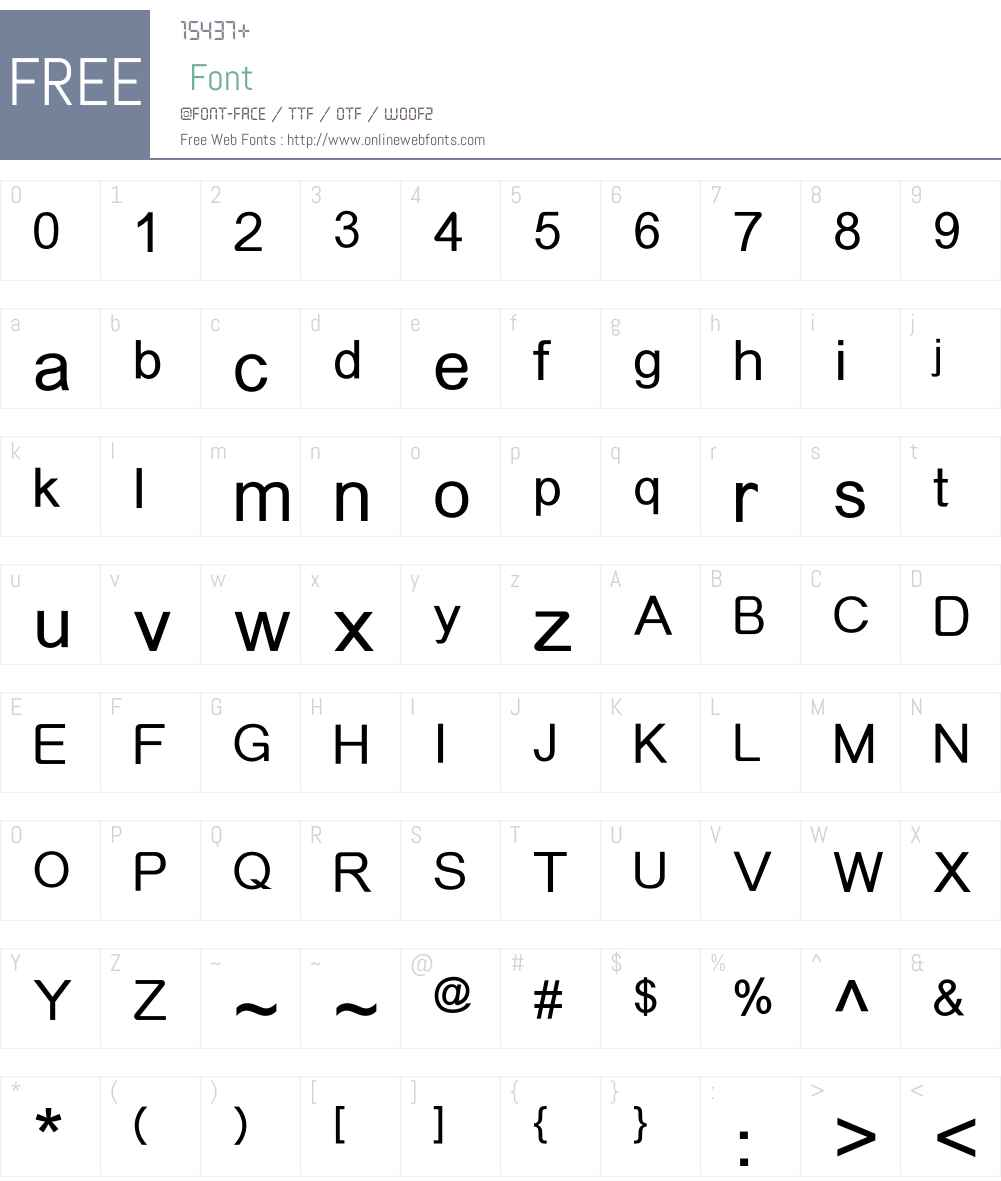 MElleHKS Font Screenshots