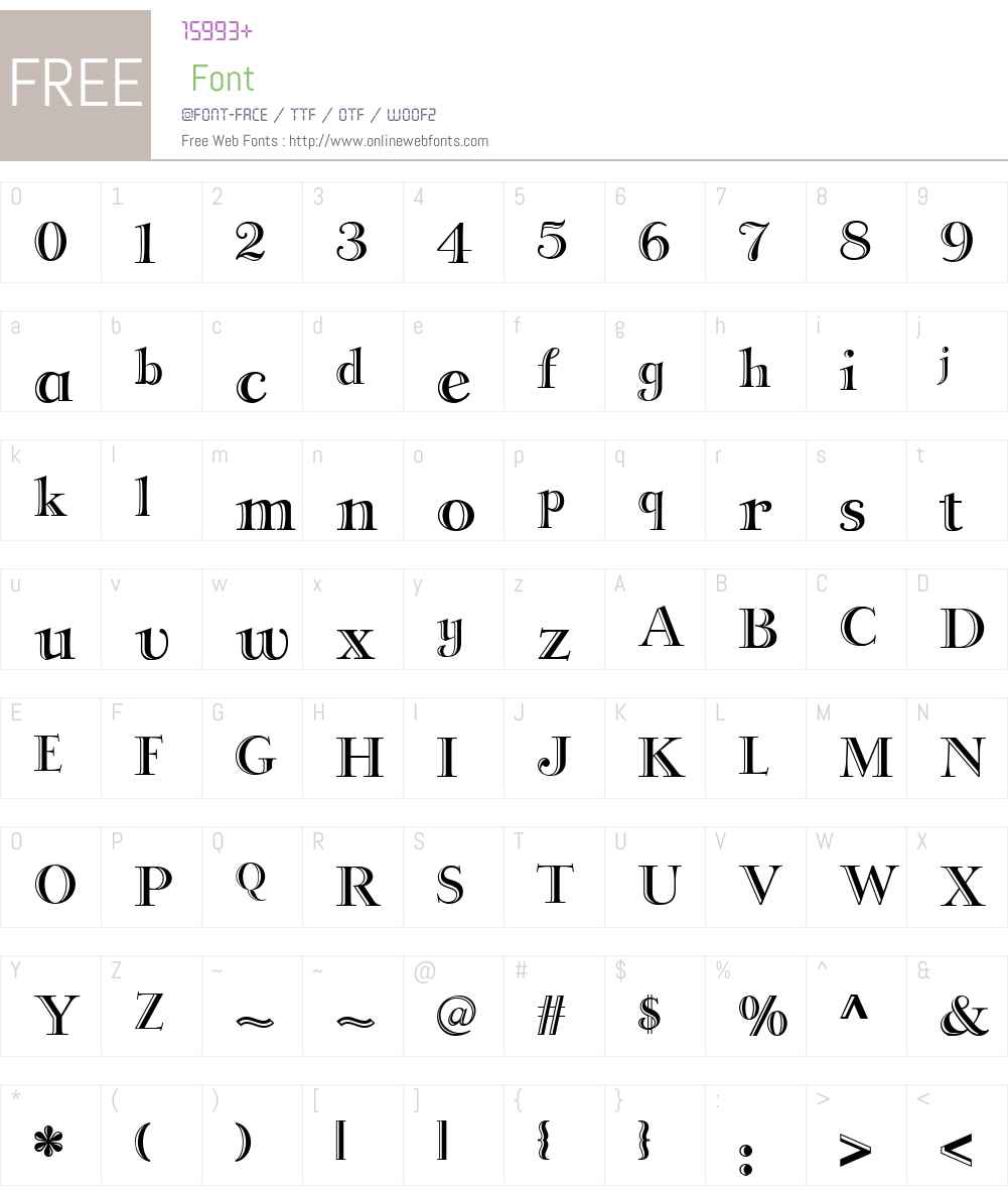 LateralIncisedNFW01-Regular Font Screenshots