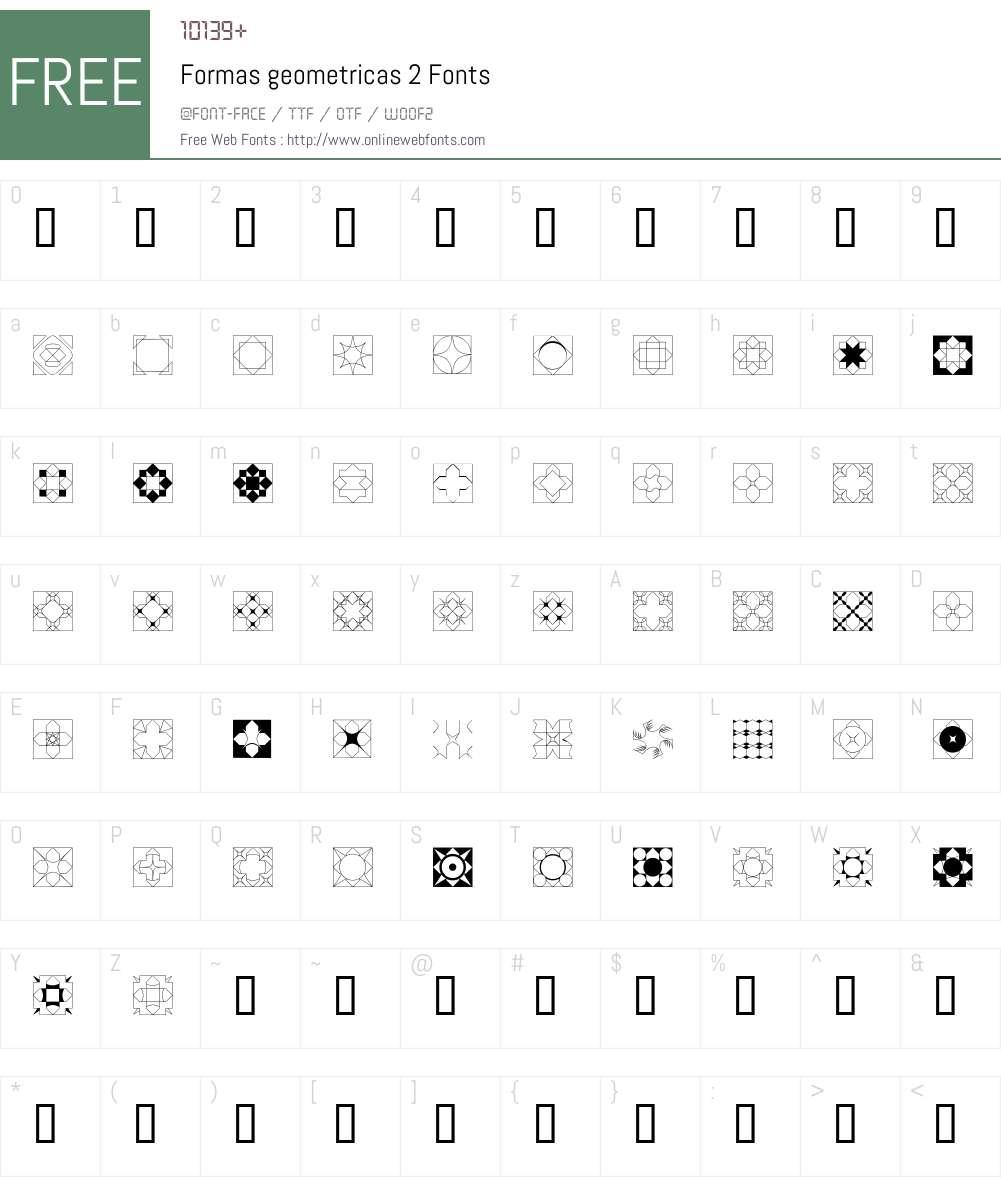 Formas geometricas 2 Font Screenshots
