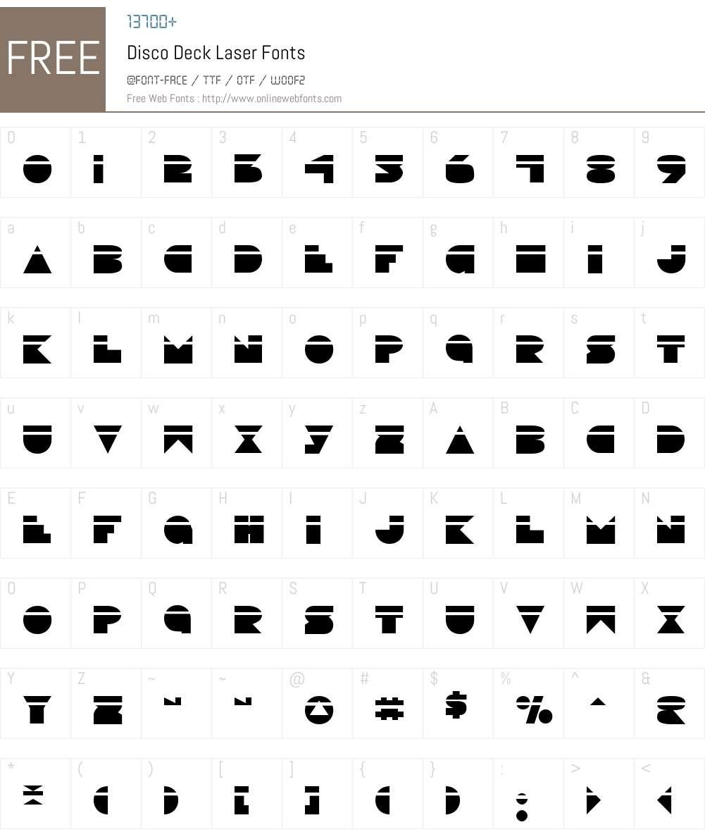 Disco Deck Laser Font Screenshots