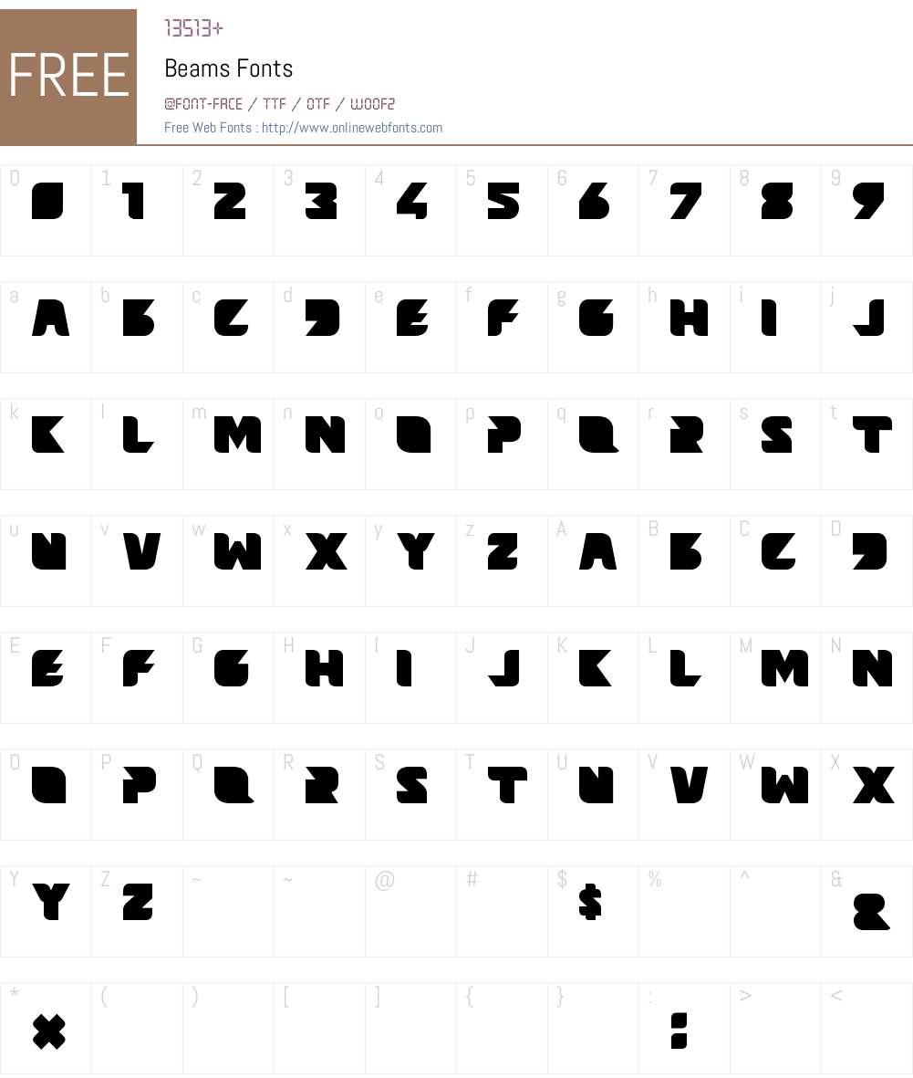 Beams Font Screenshots