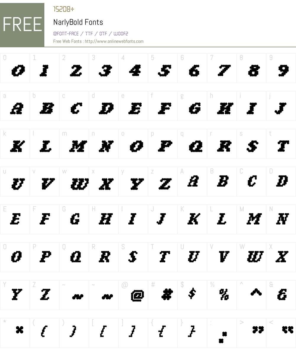 Narly Font Screenshots