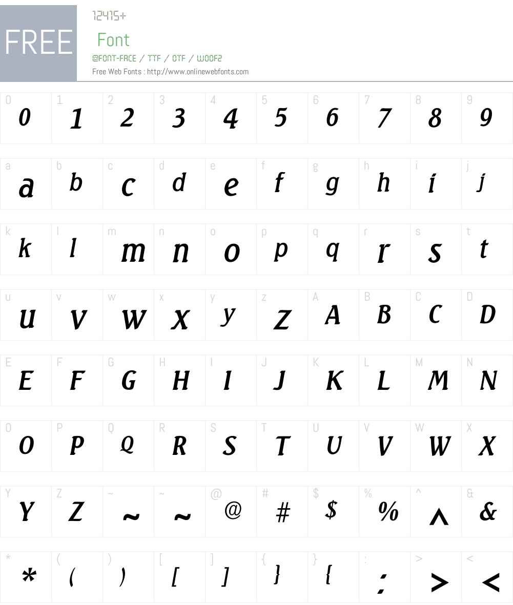 Iseagull Font Screenshots