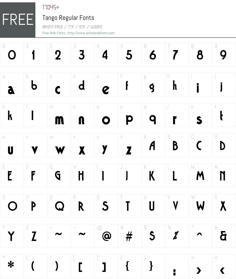 Tango Font Screenshots
