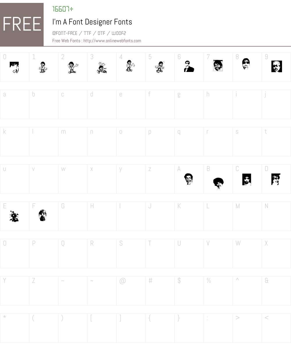 I'm A Font Designer Font Screenshots