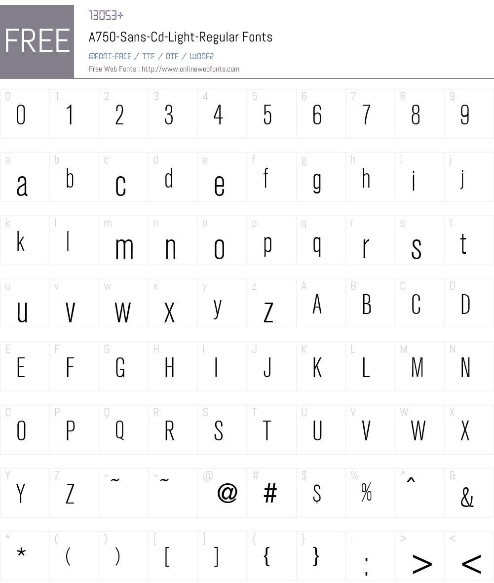 A750-Sans-Cd-Light Font Screenshots