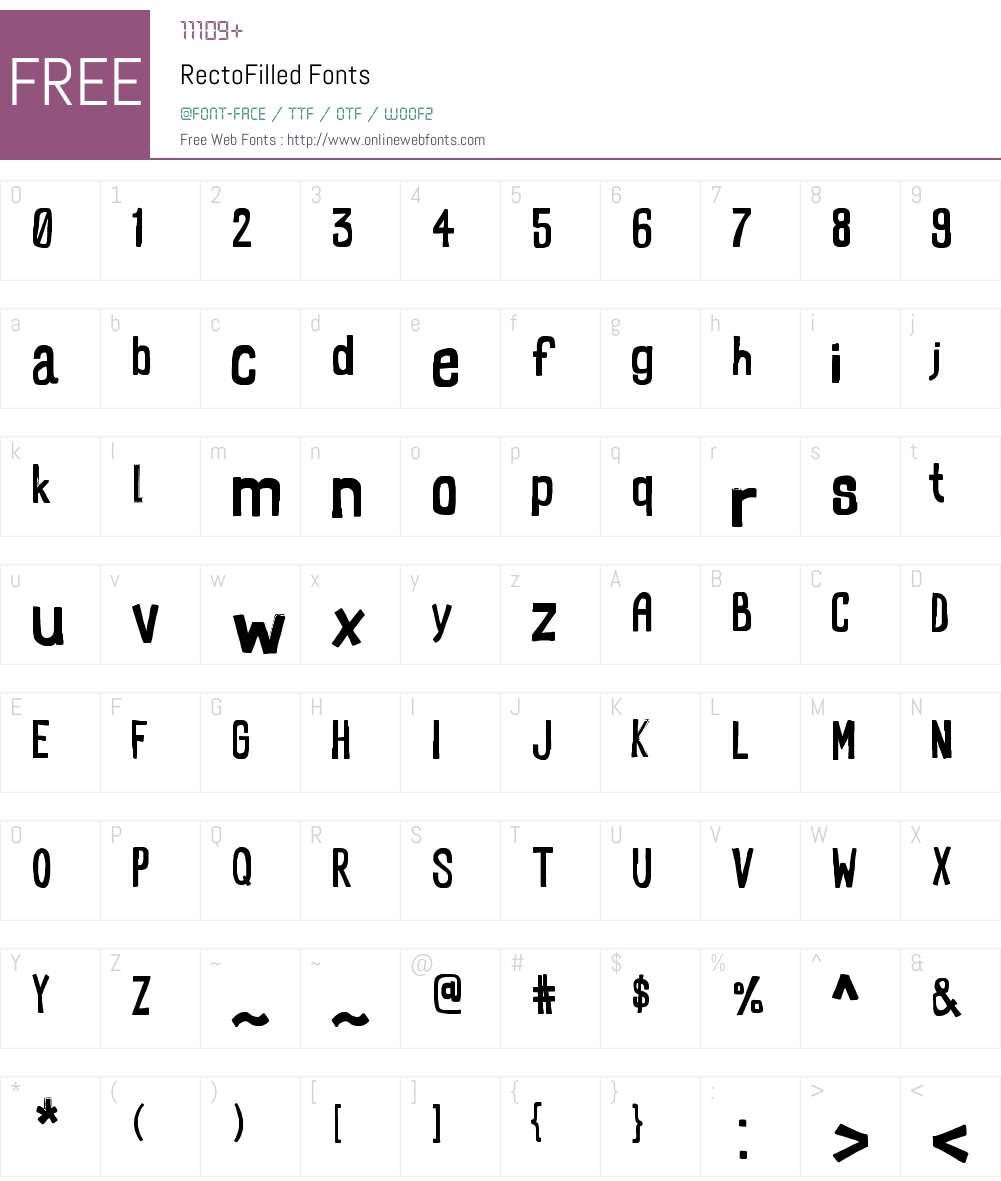 RectoFilled Font Screenshots