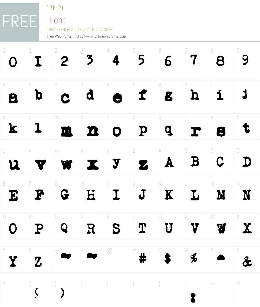 NoMore Typewriters Font Screenshots