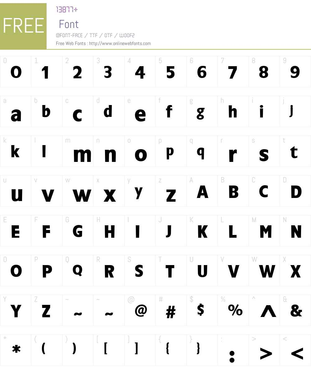 ChalfontW00-Bold Font Screenshots