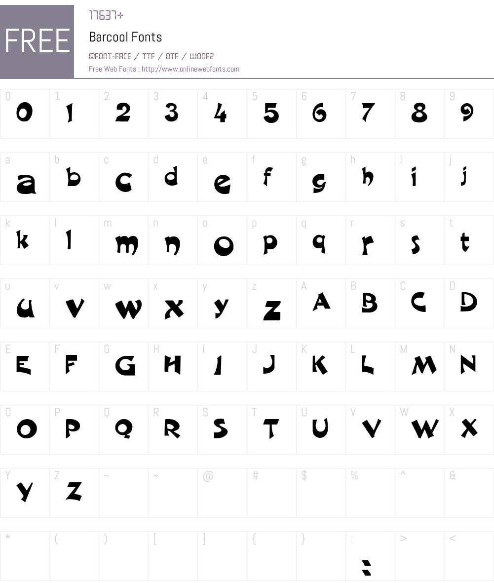 Barcool Font Screenshots