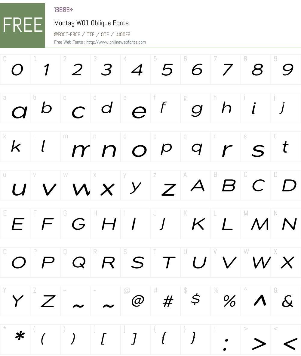 Montag Font Screenshots