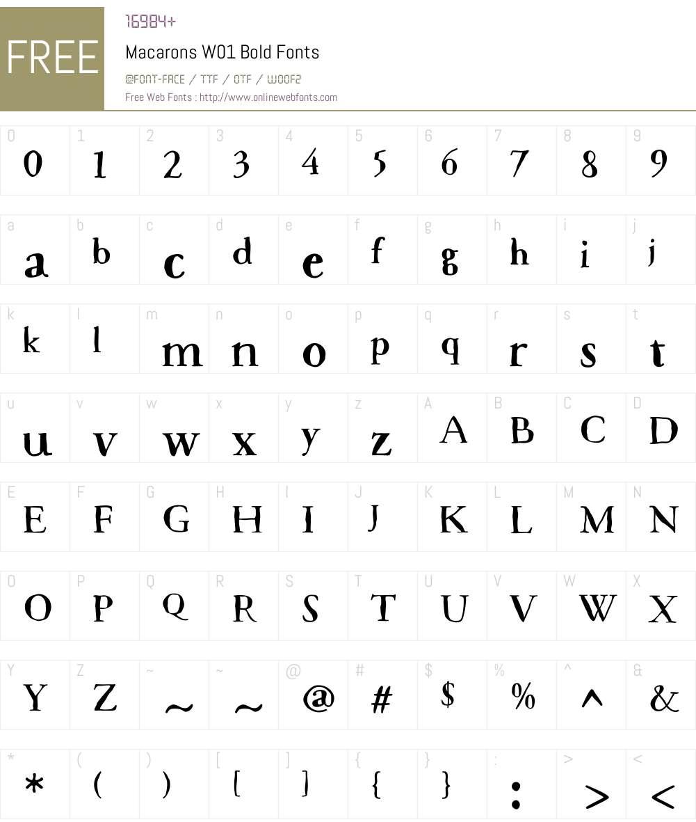 MacaronsW01-Bold Font Screenshots