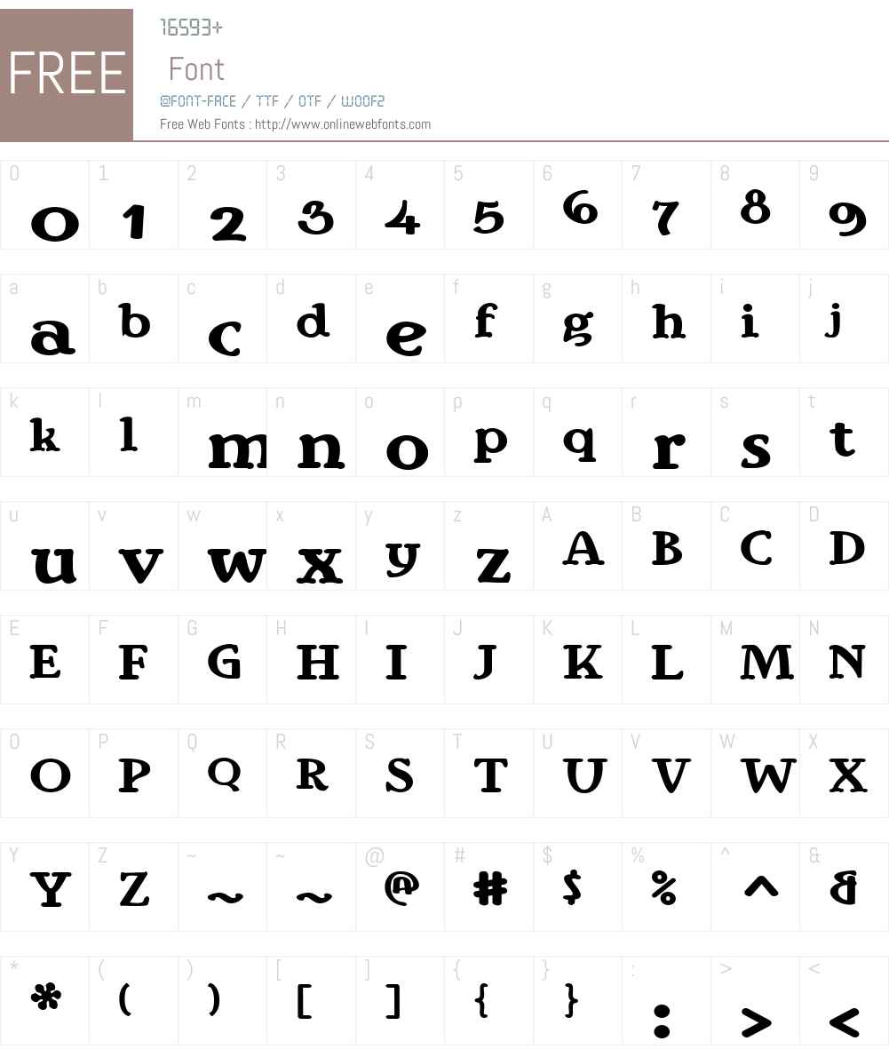 IngrianaW00-Regular Font Screenshots