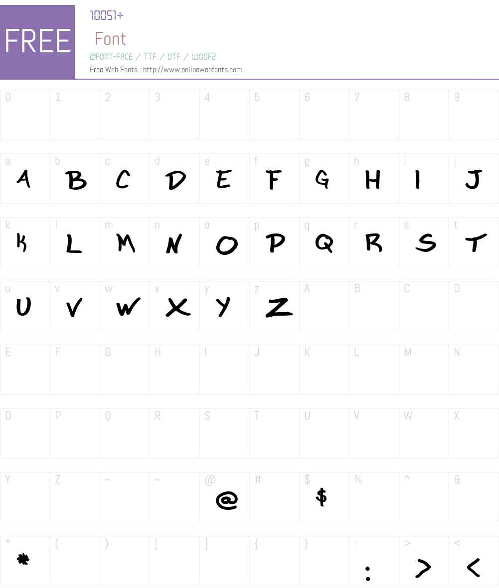 Marker Garbage Font Screenshots