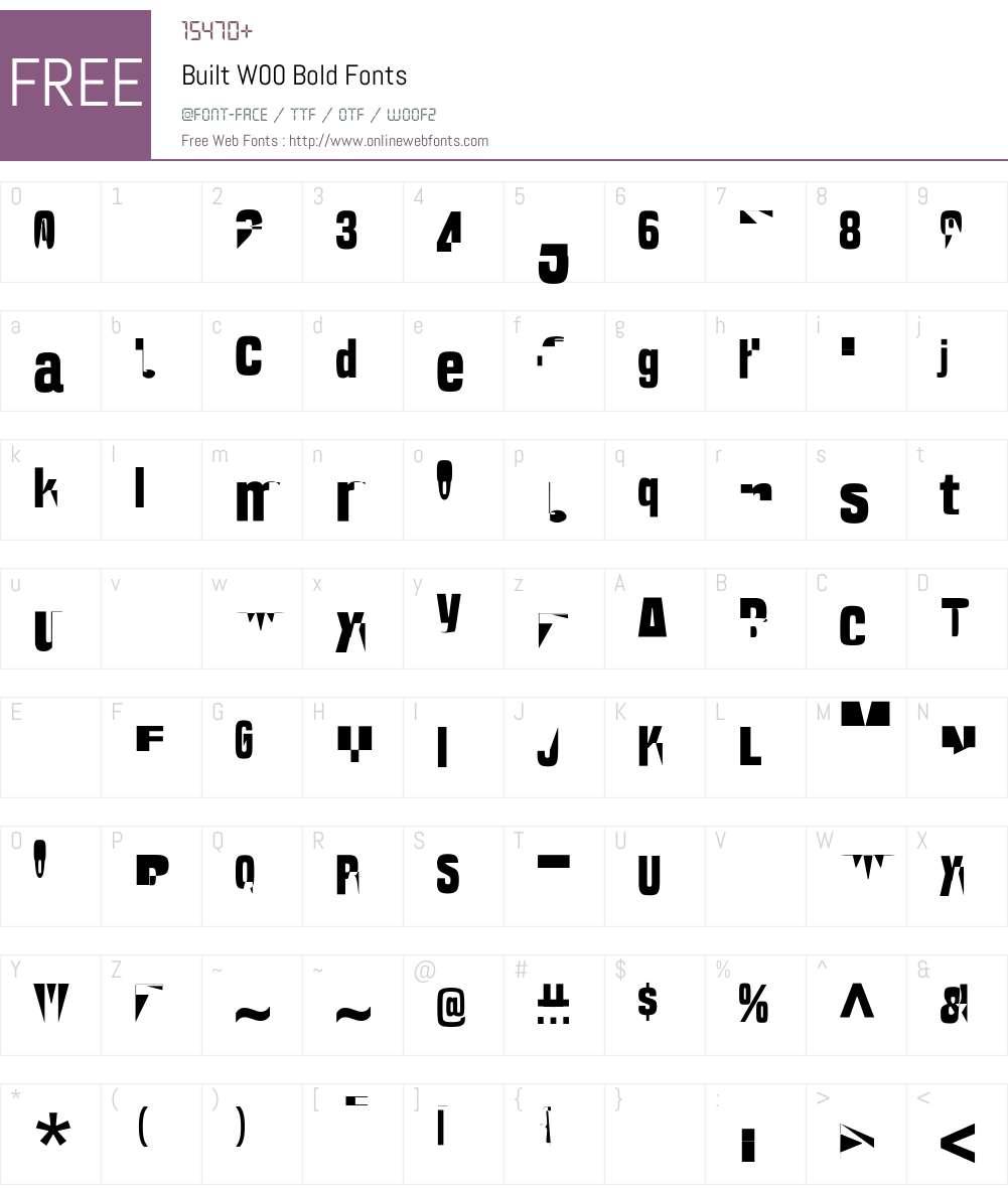 BuiltW00-Bold Font Screenshots