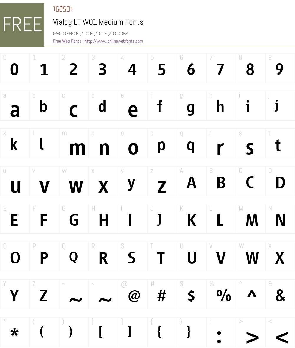 VialogLTW01-Medium Font Screenshots