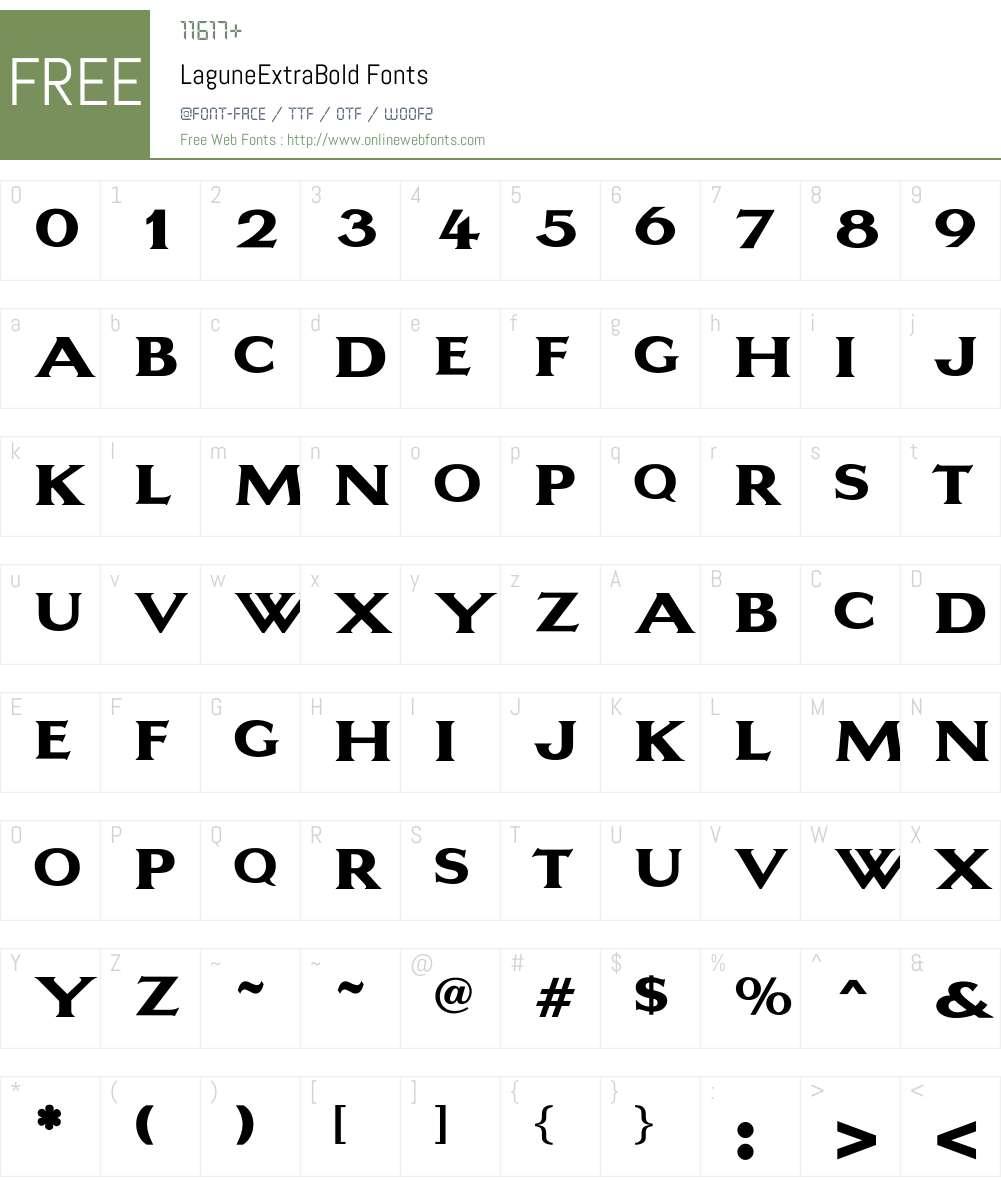 LaguneExtraBold Font Screenshots