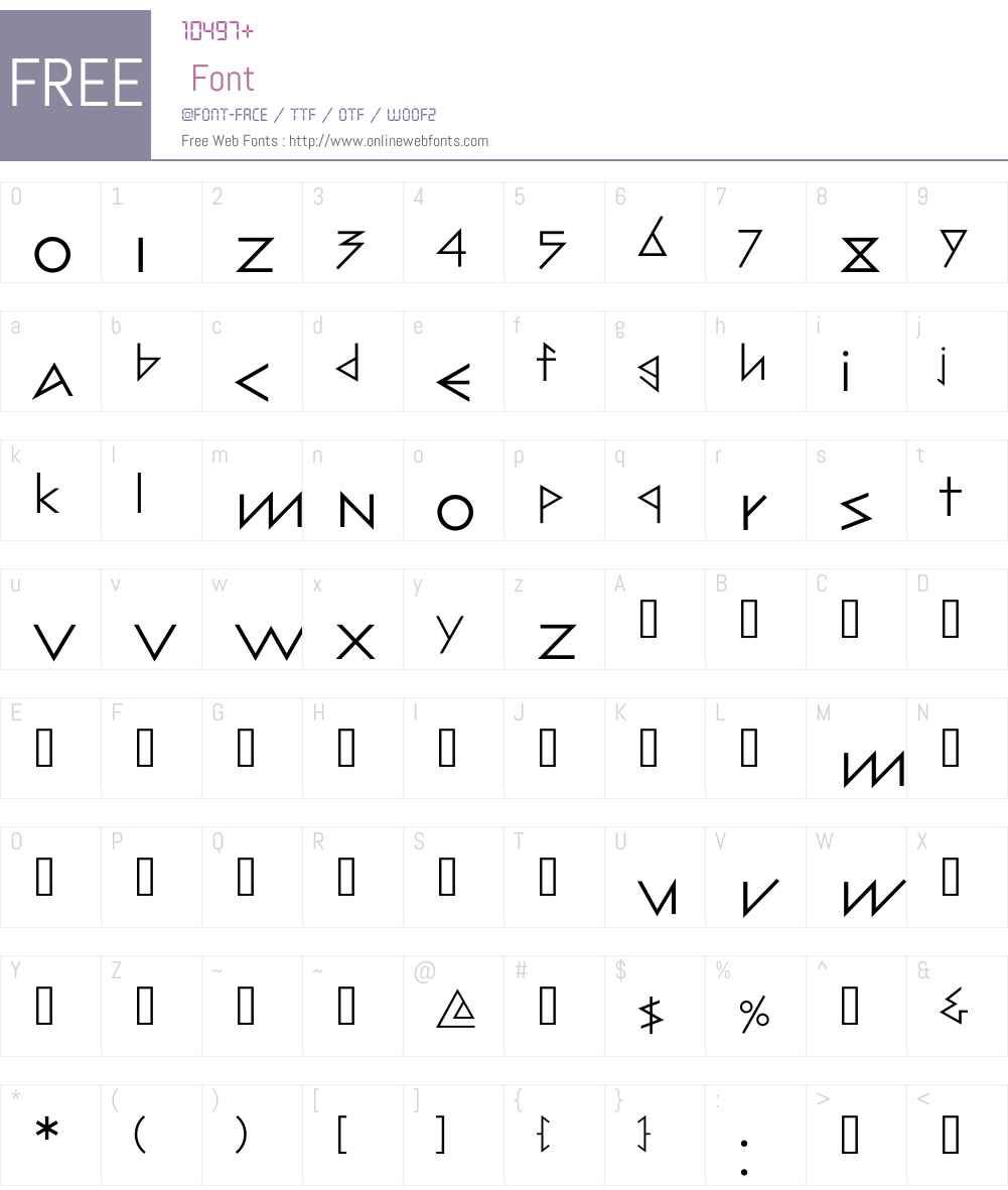 Architype Bill Font Screenshots