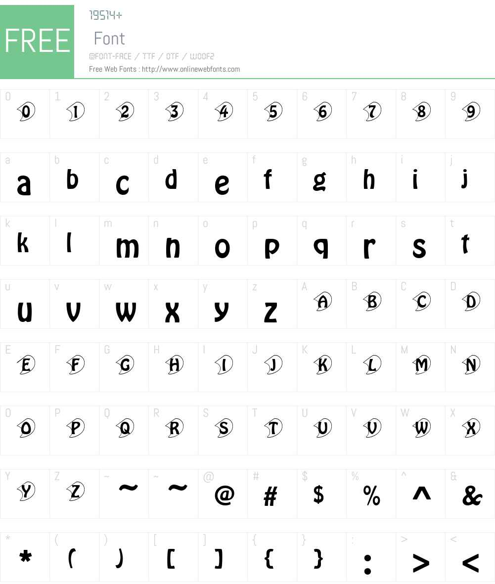 HoboW01-Initials Font Screenshots