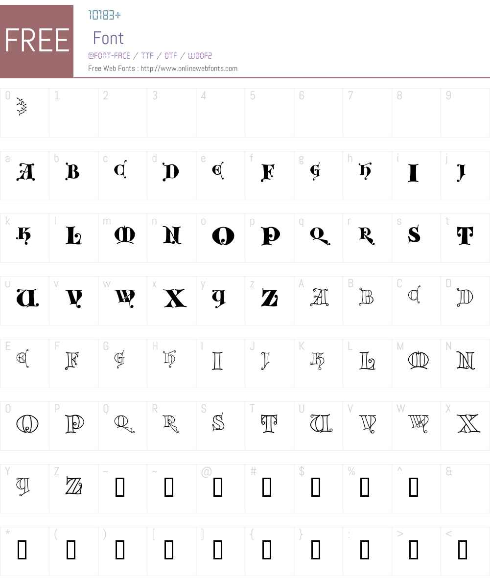 Kingthings Versalis Font Screenshots