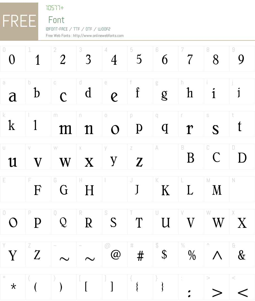 BelliniOriginalCondensed Font Screenshots