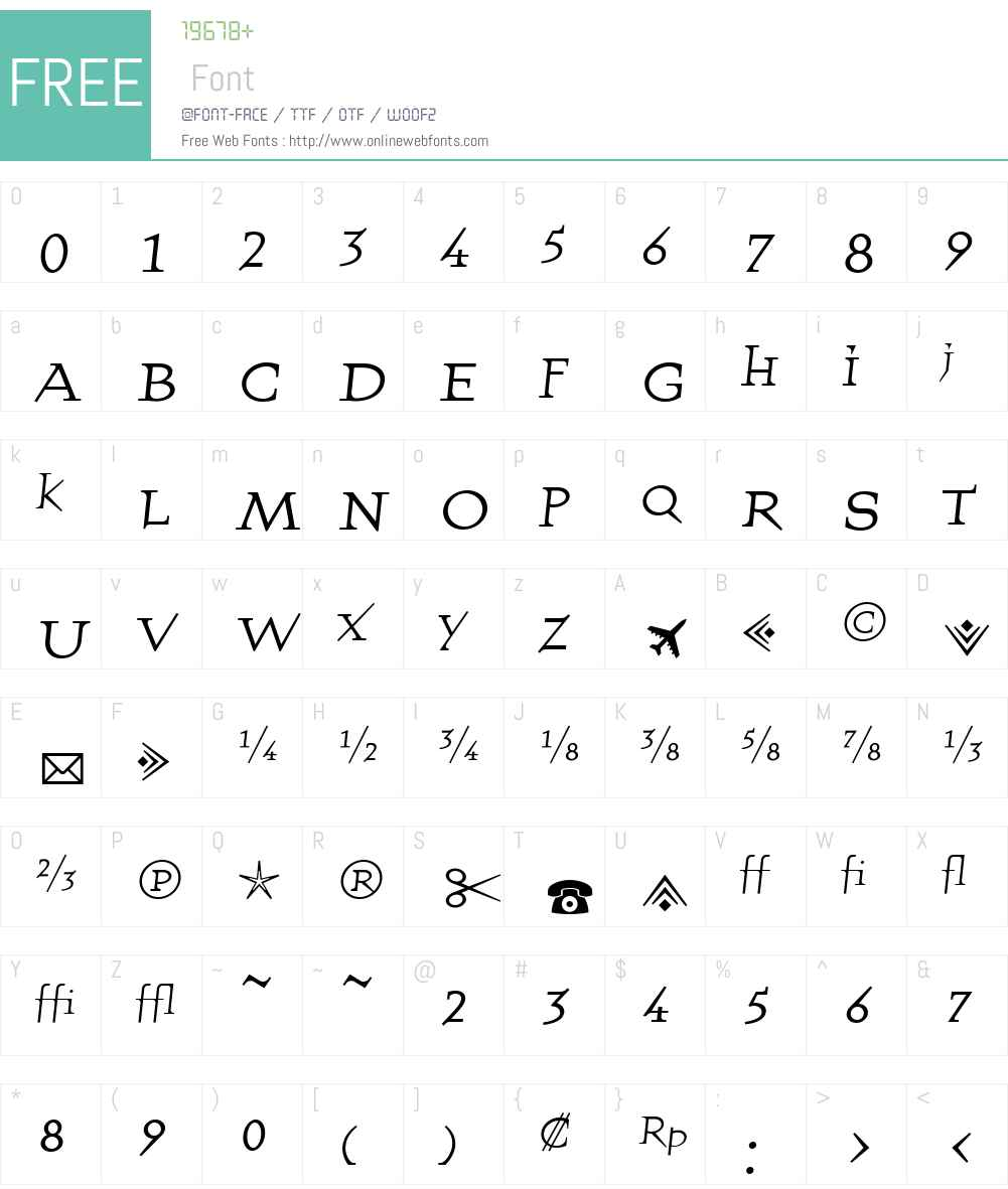 QuartetFractions Font Screenshots