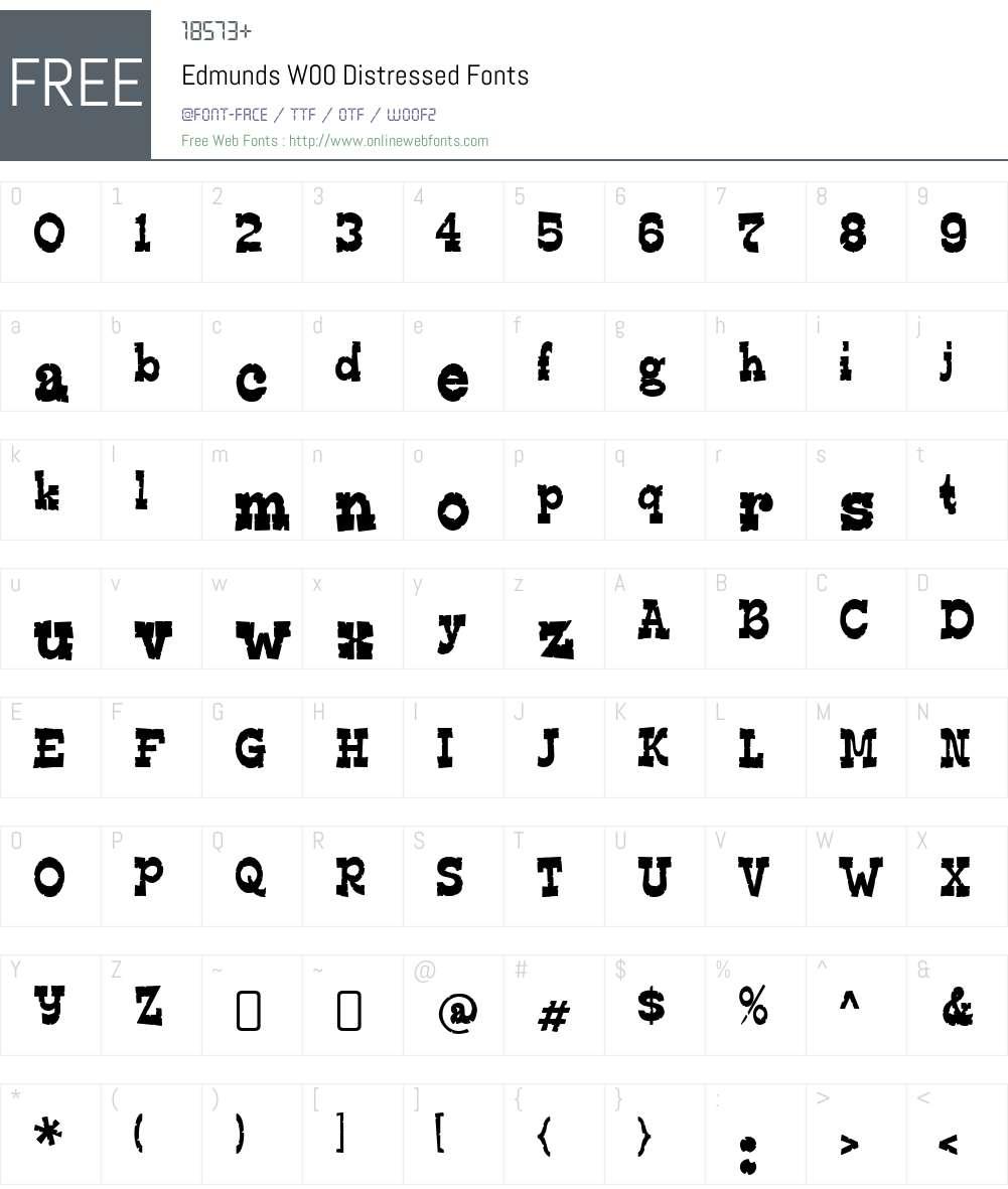 EdmundsW00-Distressed Font Screenshots