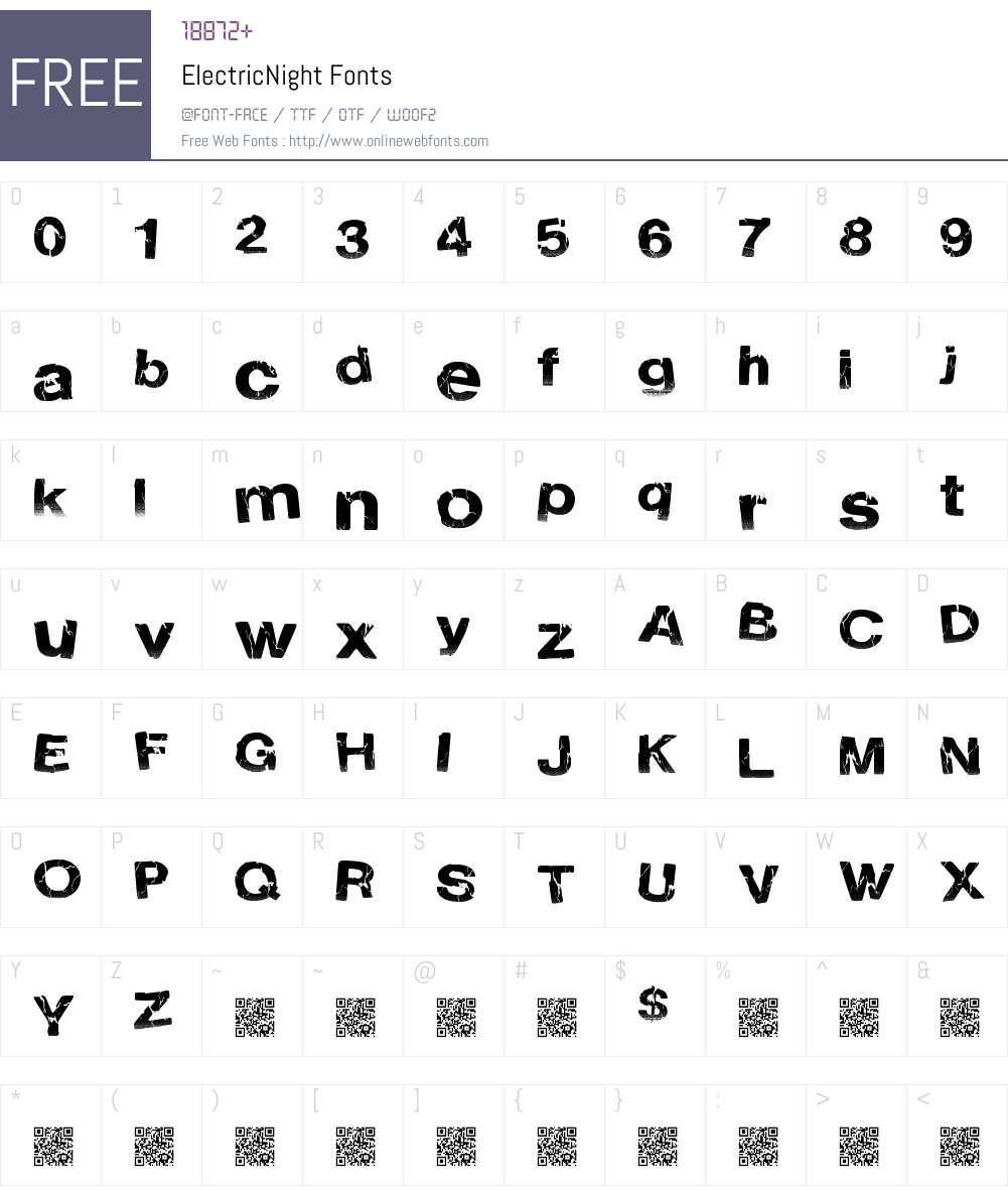 ElectricNight Font Screenshots