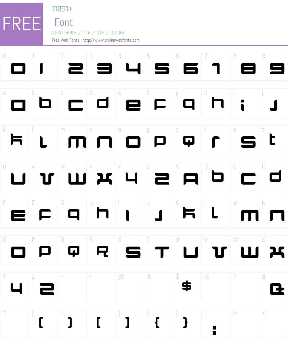 Quarx Font Screenshots