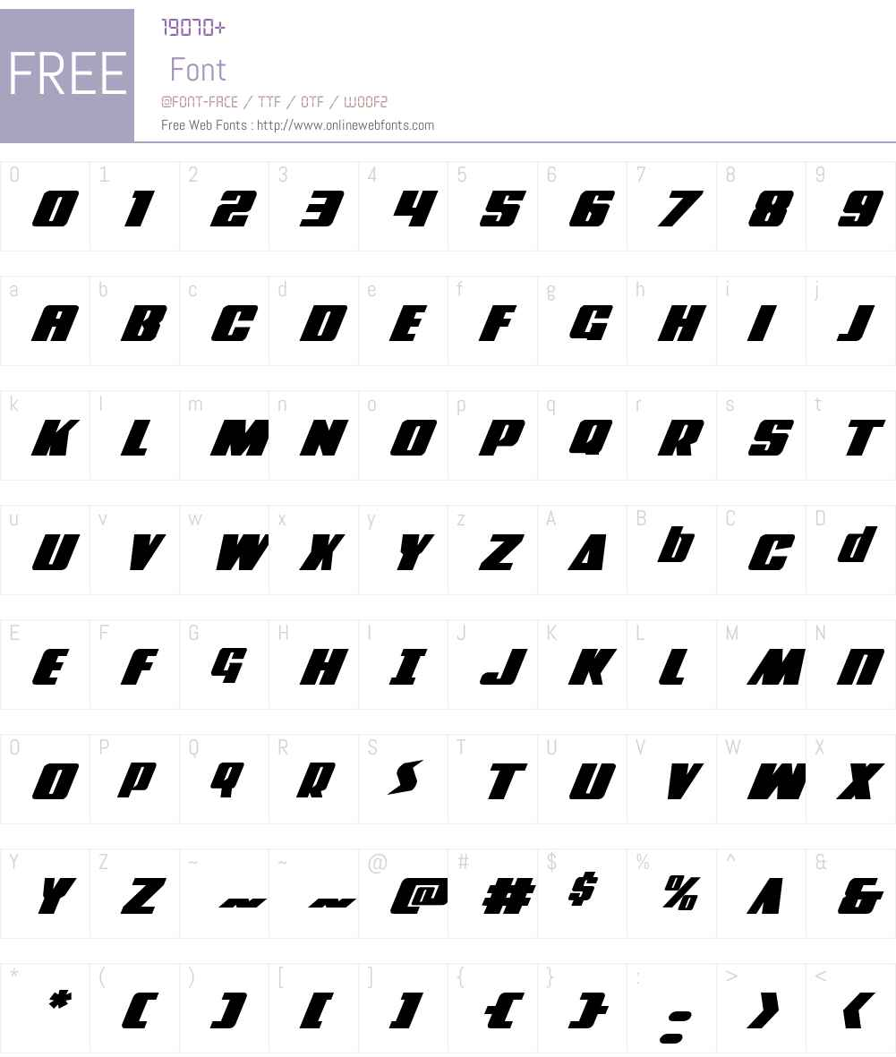 Power Lord Expanded Italic Font Screenshots