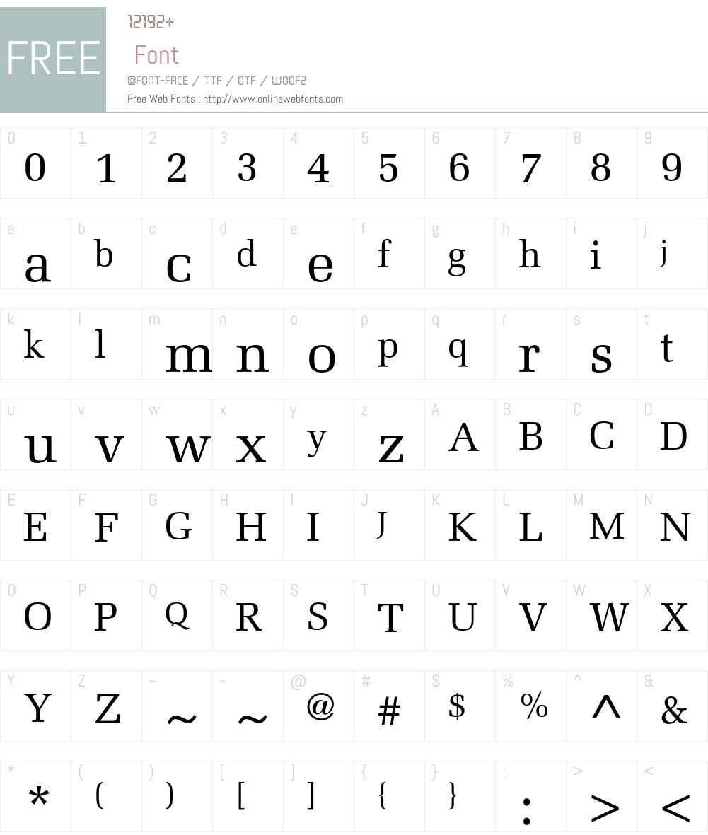 Melior Font Screenshots