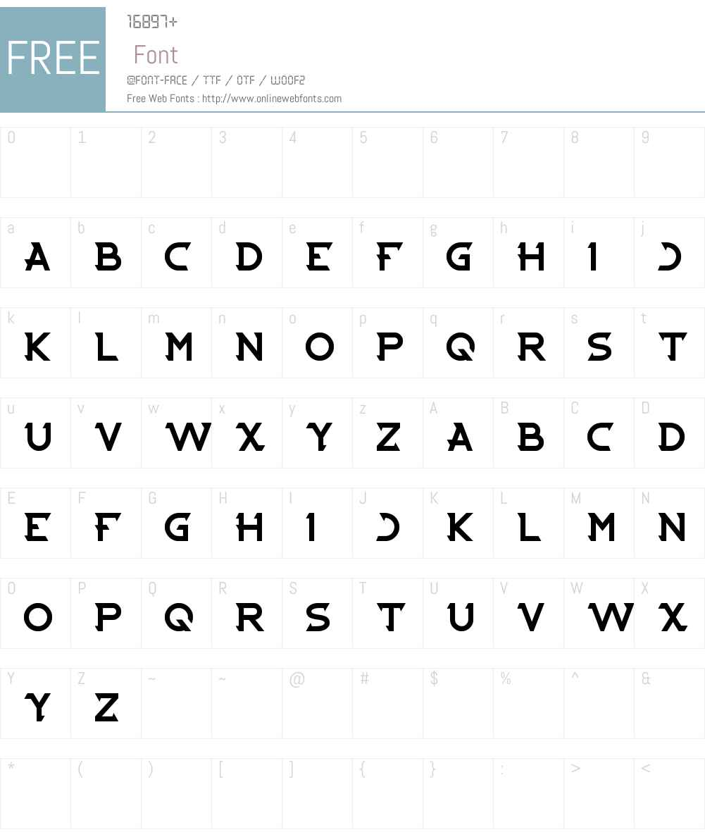 CYBERTOOTH Font Screenshots