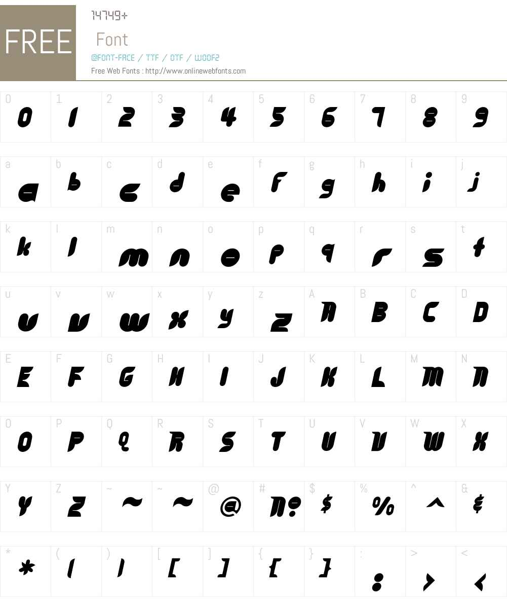 Cyberotica Font Screenshots