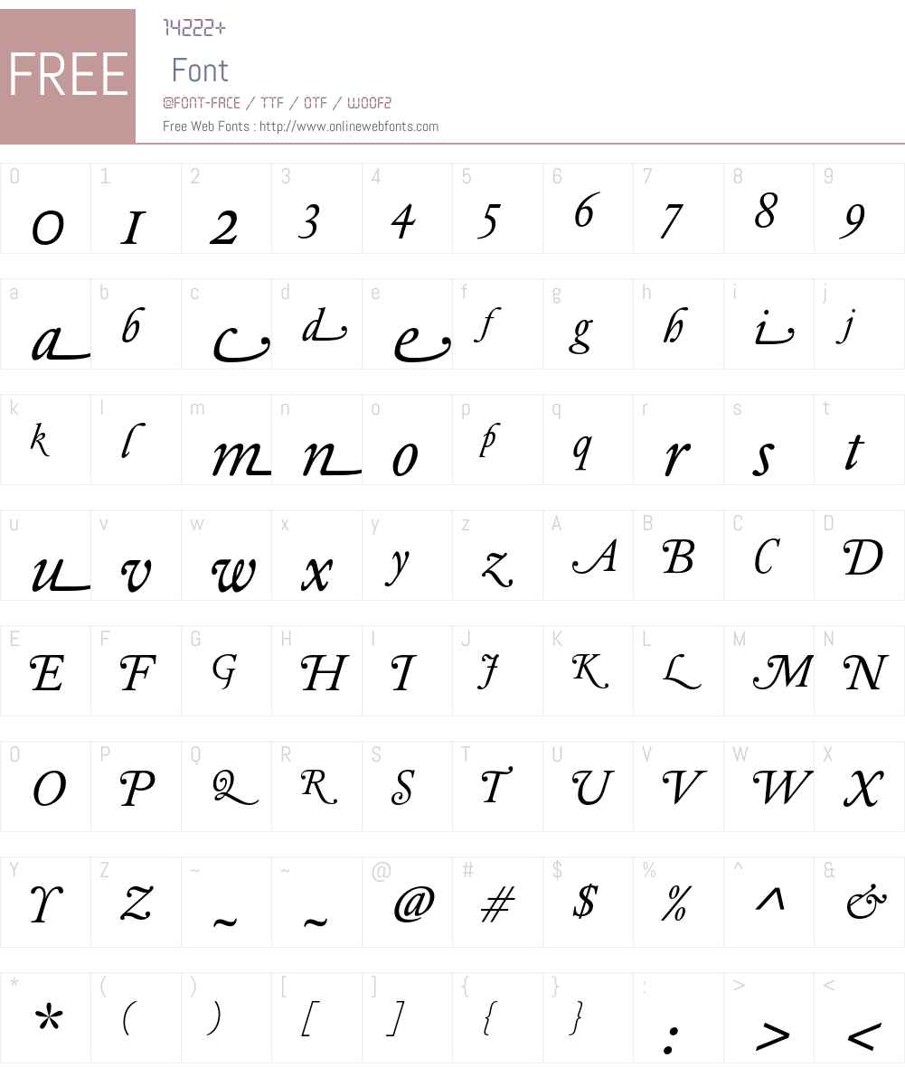 DTLElzevirTSwash Font Screenshots
