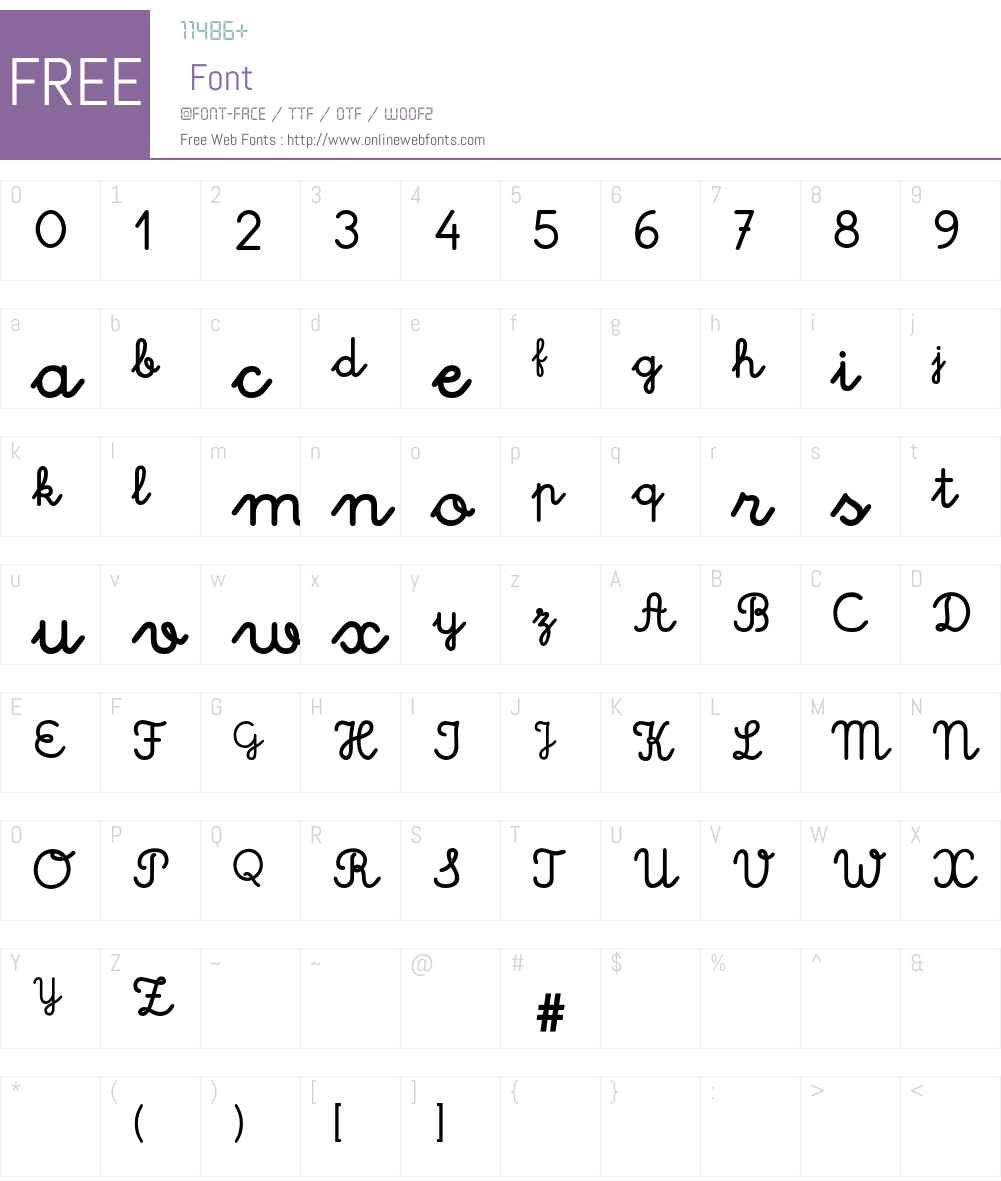 EscolarPortugal-Forte Font Screenshots