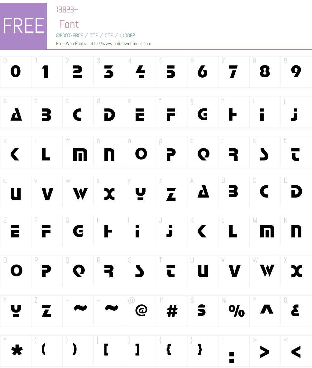 Quasar Font Screenshots
