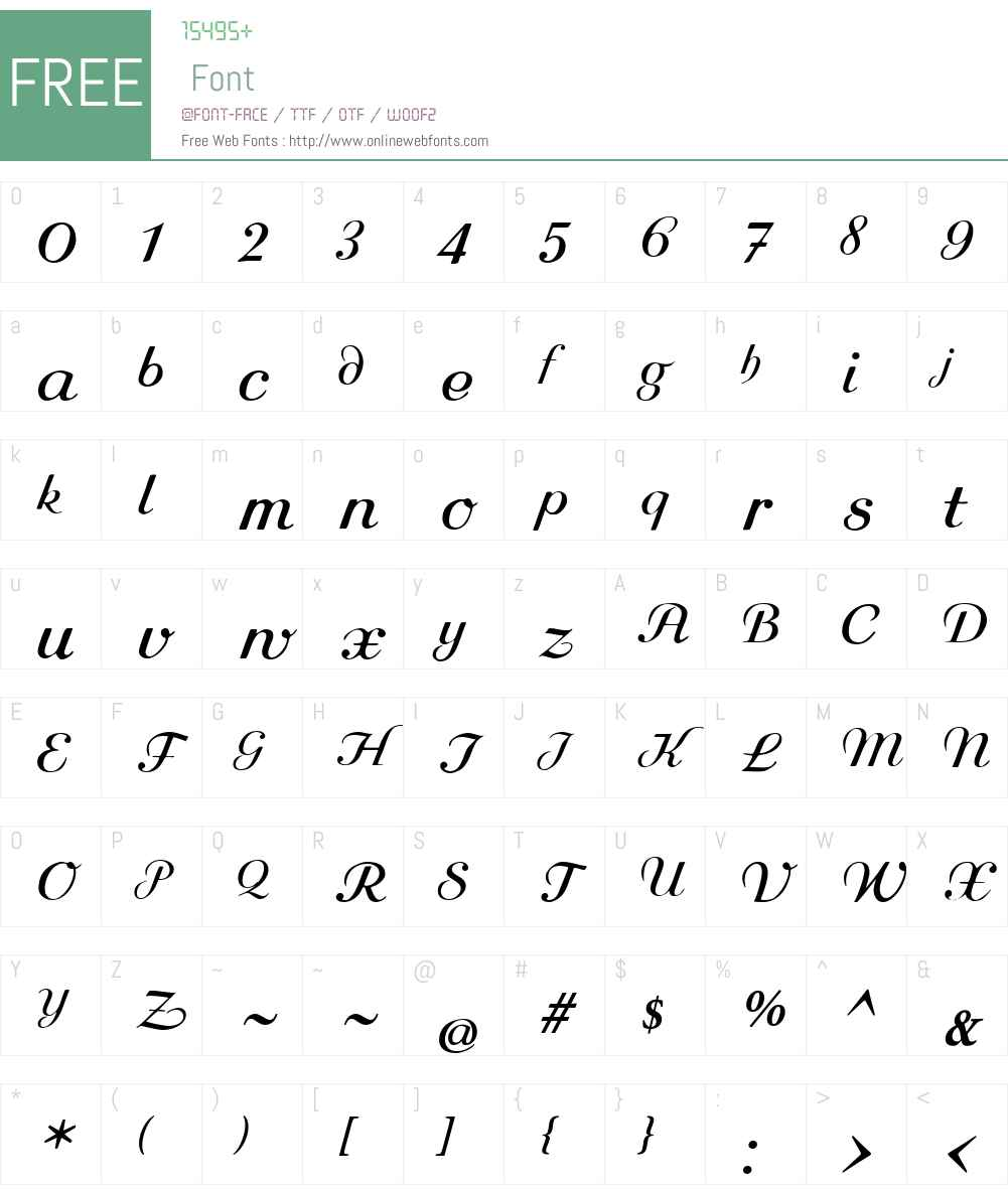 Rundkursiv Font Screenshots