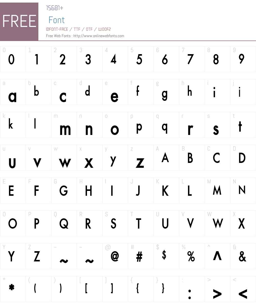 Fusi Condensed Font Screenshots