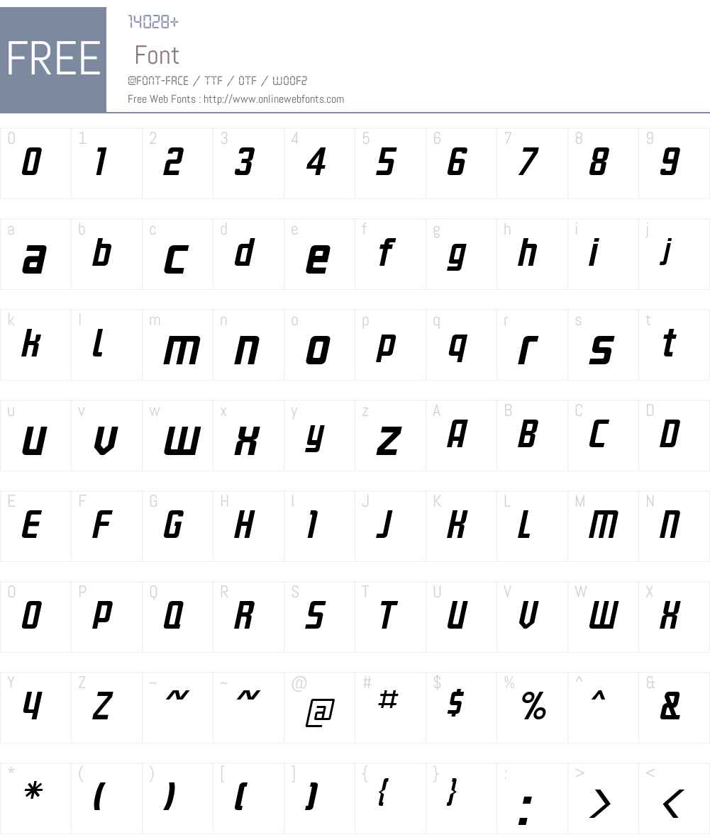 KanalNormalItalic Font Screenshots