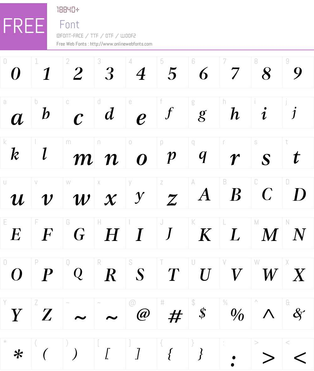 ITCGammaW01-MediumItalic Font Screenshots