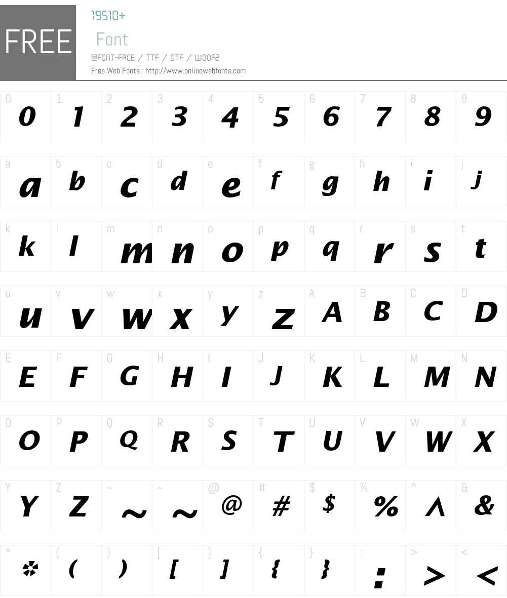 LucidaSans Font Screenshots